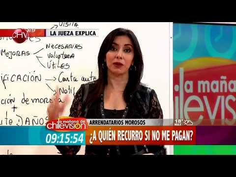 La Jueza explica las dudas sobre arrendatarios morosos - La Mañana de Chilevisión