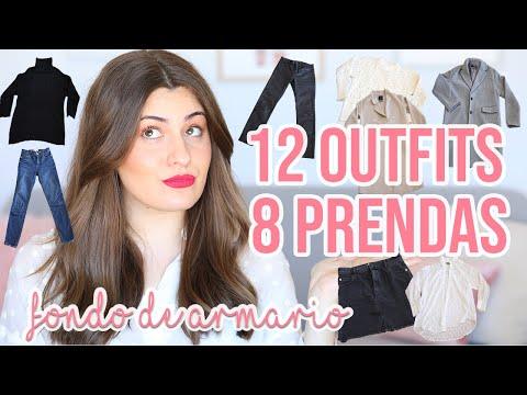 12 OUTFITS CON 8 PRENDAS | BÁSICOS DE FONDO DE ARMARIO | Angicupcakesblog