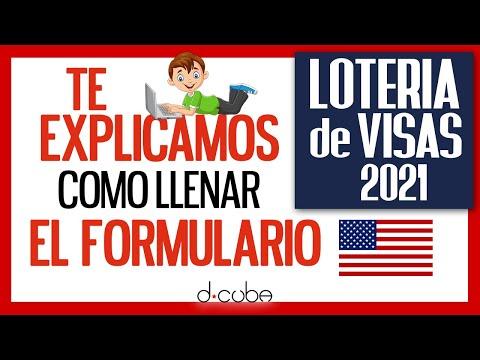 ? Inscribirse en la LOTERIA DE VISAS 2021 ? Cómo Llenar el FORMULARIO
