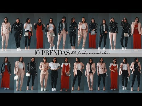 10 Prendas, 25 Looks casual chic
